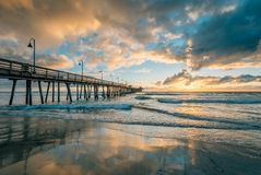 Free The Pier At Sunset, In Imperial Beach, Near San Diego, California Royalty Free Stock Photo - 147125645
