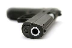 Free The Pistol Laying On A Table Royalty Free Stock Photo - 1221005