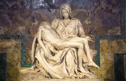 Free The Pity: Michelangelo Masterpiece In Saint Peter Basilica - Vatican Stock Images - 134949284