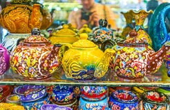 The Porcelain Teapots Stock Photography