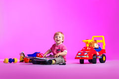 The Portrait Of A Happy Little Boy Royalty Free Stock Photos