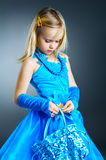 The Portrait Of A Little Girl. Royalty Free Stock Photos