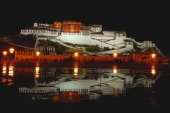The Potala Palace At Night Royalty Free Stock Photos