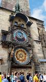 The Prague Astronomical Clock Is A Medieval Astronomical Clock.The Clock Is On The Southern Wall Of Old Town City Hall Royalty Free Stock Image