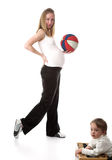 The Pregnant Woman And Ball Royalty Free Stock Image