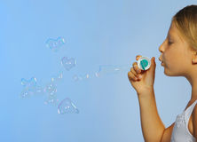 Free The Pretty Girl With Bubbles Heart Stock Photos - 17452703