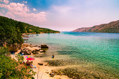 Free The Pristine Coastline And Crystal Clear Water Of The Island Of Royalty Free Stock Images - 69163739