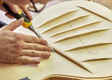 Free The Process Of Making Classical Guitar. Royalty Free Stock Photo - 146432985