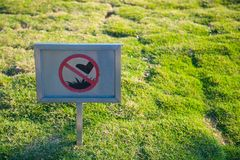 Free The Prohibited Sign Don`t Walk On The Grass Royalty Free Stock Photography - 114924107