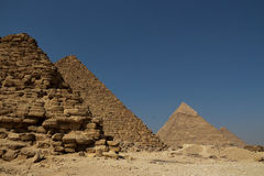 The Pyramids Of Giza Group Stock Images