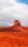 The Rainbow In Reservation Of Indians Navajo Royalty Free Stock Photos
