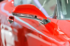 Free The Rearview Mirror Of A Red Car Stock Photos - 17530163