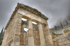 The Reconstructed Treasury Of Athens At Delphi Royalty Free Stock Image