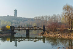 The River Bridge Stock Images
