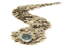 The Road From Coins Stock Image