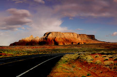 The Road To Monument Valley Royalty Free Stock Photos