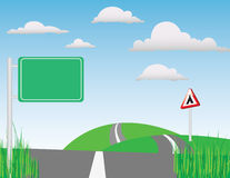 The Road (vector) Stock Images