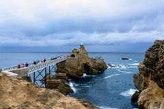 Free The Rocher De La Vierge In Biarritz French Basque Country Stock Images - 149509114