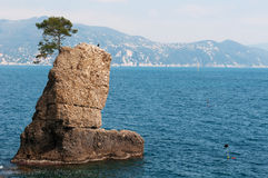 The Rock Of Cadrega, Santa Margherita Ligure, Genoa, Liguria, Italy, Italian Riviera, Europe Royalty Free Stock Photos