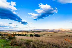 The Rolling Hills And Fertile Valleys Of The Dargle, Kwazulu-natal, South Africa Royalty Free Stock Image