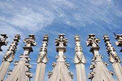 The Roof Of Duomo Di MIlano Royalty Free Stock Photos
