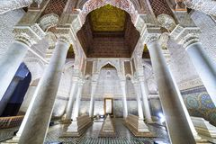 Free The Room With The Twelve Columns In Saadian Tombs, Marrakech Royalty Free Stock Photos - 114473718