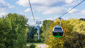 The Ropeway In Silesia Park Royalty Free Stock Photo
