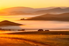 Free The Rosy Clouds Of Dawn And Hills Royalty Free Stock Photo - 78260565
