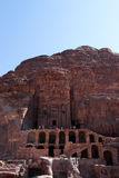 The Royal Tombs Of Petra In Jordan Stock Images