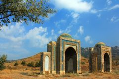 The Ruins Of A Mosque At Sunset. Crimea, Ukraine Stock Images