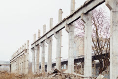 Free The Ruins Of An Abandoned Soviet Russian Industrial Damaged Fact Royalty Free Stock Image - 83008686