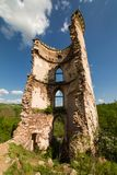 The Ruins Of An Old Castle In The Village Of Chervonograd. Ukraine Stock Photo
