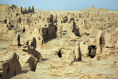 The Ruins Of Jiaohe Panorama Royalty Free Stock Images
