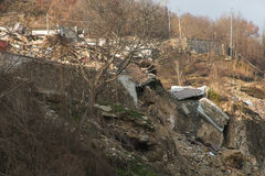 The Ruins Of Pescara Del Tronto Village Destroyed By Earthquake Royalty Free Stock Images