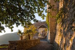 Free The Ruins Of The Ancient Castle Arechi In Salerno Royalty Free Stock Photos - 127452728