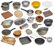 Free The Rural Used Old Dirty Kitchen Equipment Set Royalty Free Stock Images - 75475279