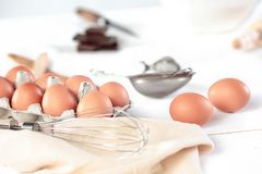 Free The Rustic Kitchen With Eggs Stock Image - 105008901