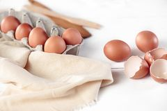 Free The Rustic Kitchen With Eggs Royalty Free Stock Photo - 105009235
