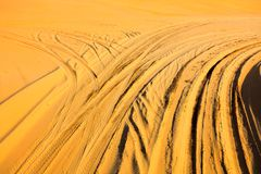The Ruts In The Desert, Srgb Image Stock Image