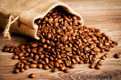 The Sack Of Coffee Beans Royalty Free Stock Image