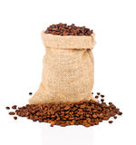The Sack Of Coffee Beans Stock Images