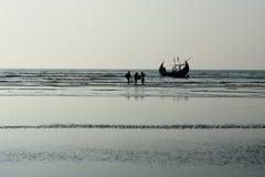 Free The Sampan Boats In Cox`s Bazar, Bangladesh Royalty Free Stock Image - 157196566