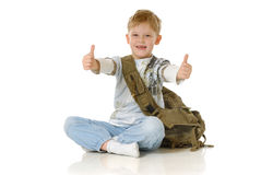 The Schoolboy Royalty Free Stock Image