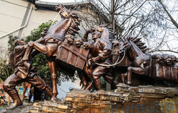 Free The Sculpture Of Tea-horse Road In Chengdu,china Royalty Free Stock Photography - 65276867