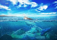 Free The Sea Full Of Medical Masks On The Background Of Nature. Stock Photo - 187851270