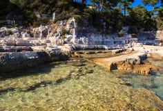 The Sea In The Sveti Nikola Island Stock Photos