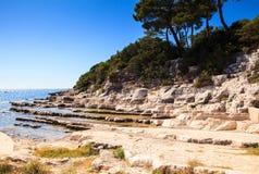 The Sea In The Sveti Nikola Island Stock Images
