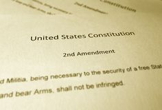 Free The Second Amendment Royalty Free Stock Photo - 103724425