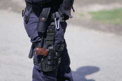 Free The Security Kit Of A Police Officer Royalty Free Stock Photo - 113675835