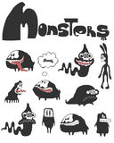The Set Of Monsters Royalty Free Stock Image